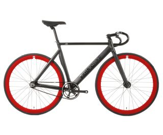 FabricBike Air Track Bicycle - Matte Black & Red