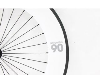 Notorious 90 Front Track Wheel - White