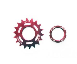 Polo & Bike 18T Track Sprocket with Lockring - Red