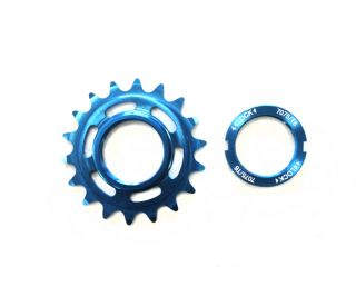 Polo & Bike 18T Track Sprocket with Lockring - Blue