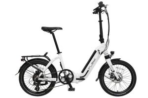 Flebi Swan + Folding e-Bike - White