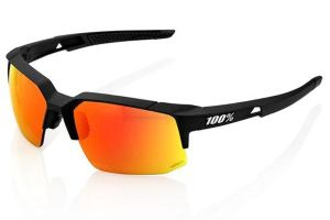 Glasses 100% Speedcoupe Soft Tact - Black/Orange